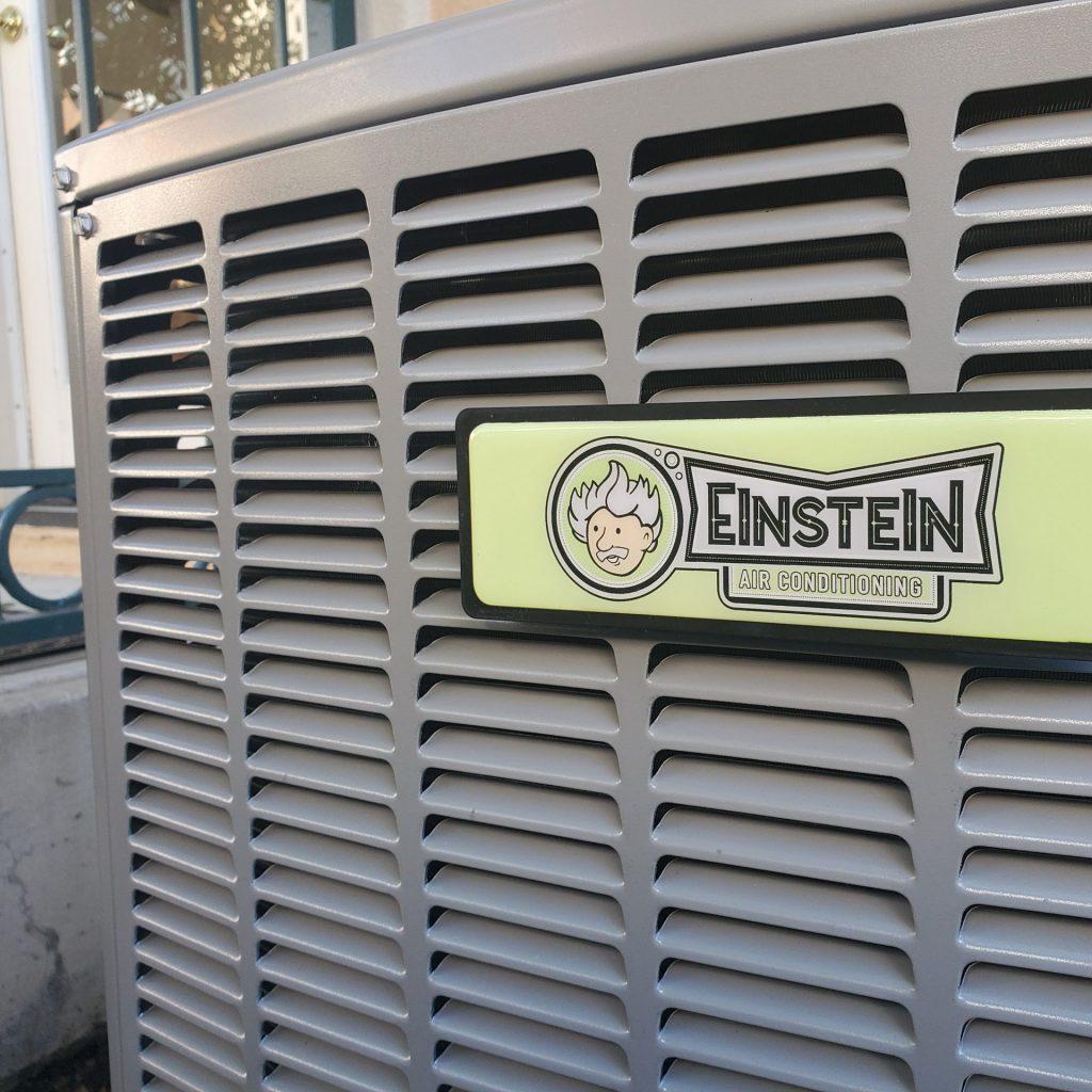 Einstein logo on AC unit