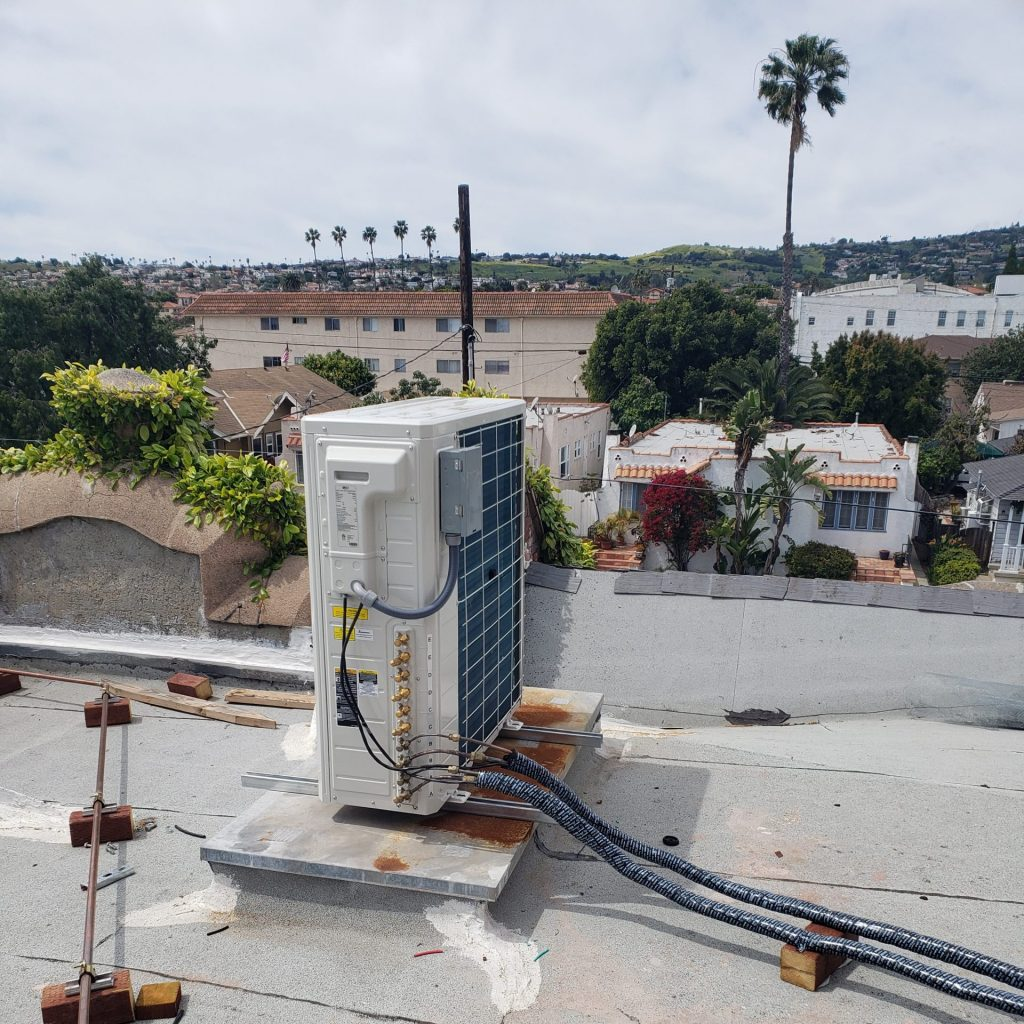 rooftop HVAC with outdoor view